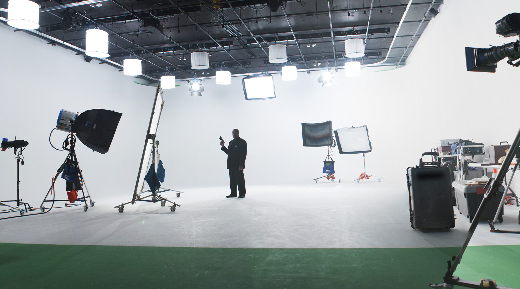 this is the behind the scenes of a film studio.