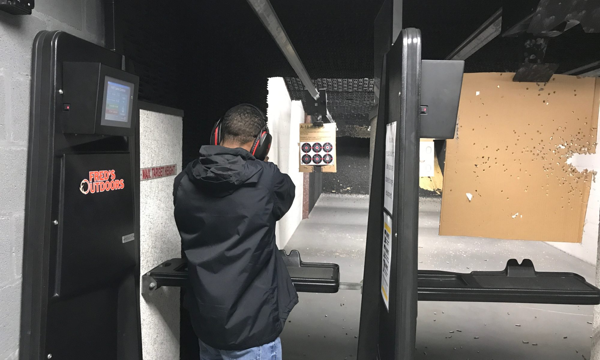 african american gun club, ken blanchard jr shooting at the range
